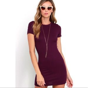 NEW Lulus Ribbed Mini Dress